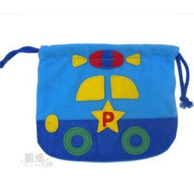 【真愛日本】12102000025 造形束口袋-藍色車車 Hello Kitty RB小車車 收納袋 日本帶回