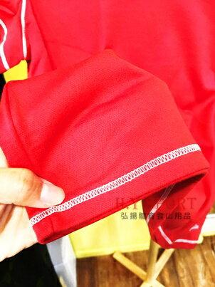 【H.Y SPORT】DRY-WET-TEX 多且5208s 圓領短袖排汗衫 紅色 [抗紫外線排汗衣,隨身型除濕機] 4