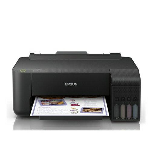 【加購墨水官網登錄送好禮】EPSON L1110 A4單功能原廠連續供墨印表機(內附1黑3彩)