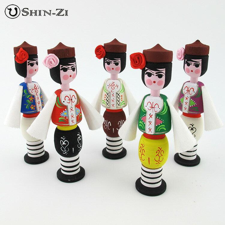 純手工造型男女木偶木瓶-聖誕節聖誕市集裝飾品.保加利亞進口手工瓶