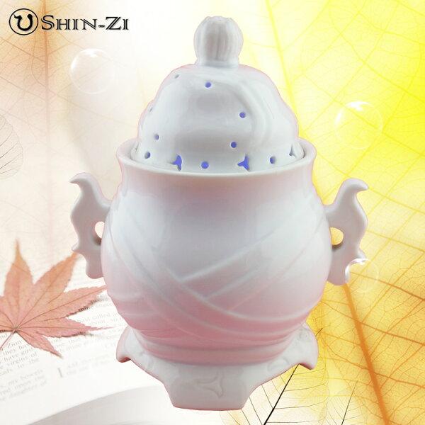 香芝有限公司:【水氧機】震盪活氧健康器(現代香爐白瓷)