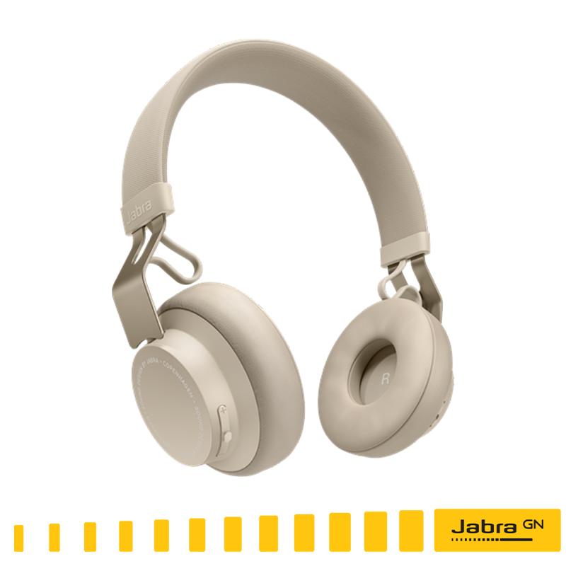 【Jabra】MOVE Style Edition 頭戴式音樂藍牙耳機 (沐舞風尚版) --鉑金米/無線藍芽耳機●出色的無線音效/通話時間:長達8小時緊密結合 I Phone /免運