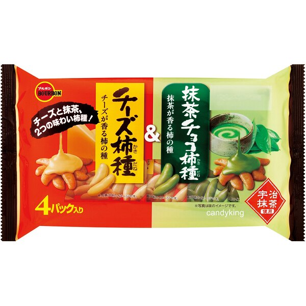 北日本 起司&抹茶柿種米果 4入裝