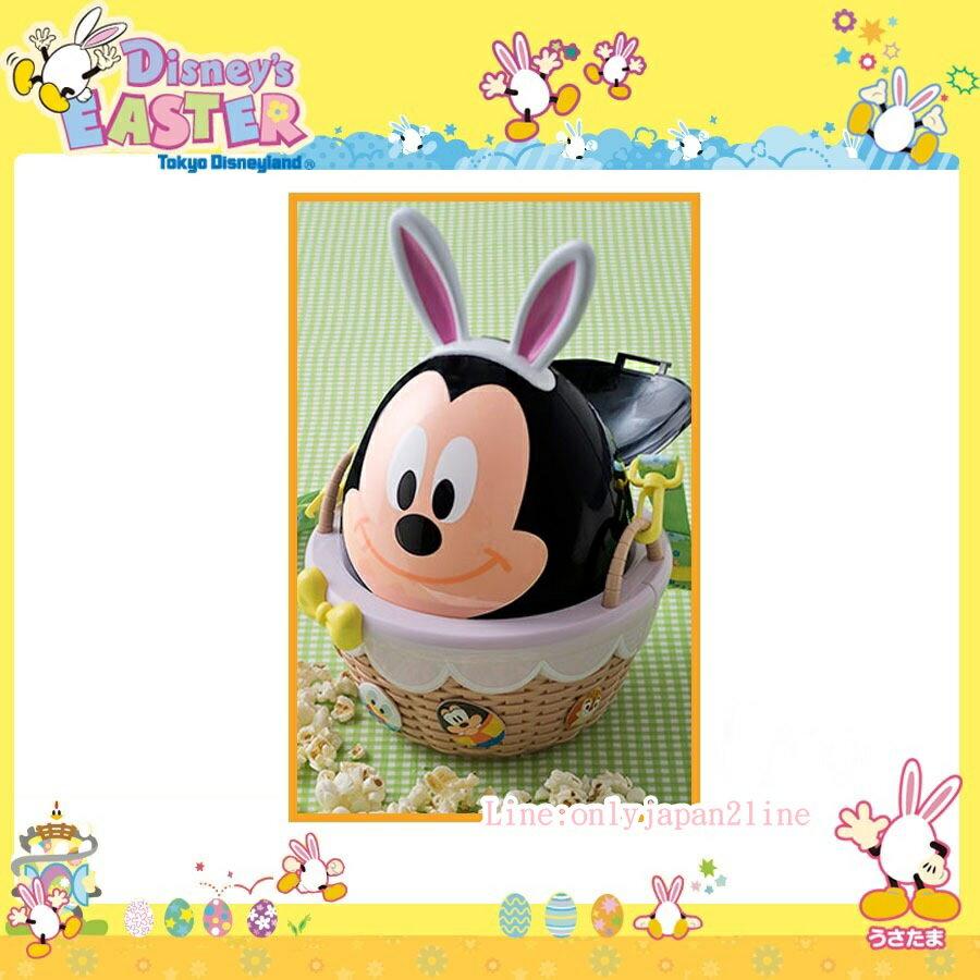 【真愛日本】17041800031 樂園復活節爆米花筒-彩蛋米奇 樂園限定迪士尼 米老鼠米奇 米妮 爆米花桶 收納桶 正品 日本帶回