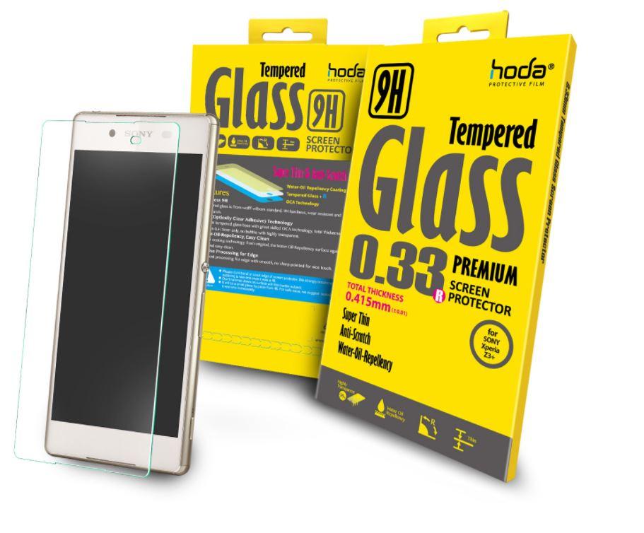 hoda【Sony Xperia Z3+】2.5D高透光9H鋼化玻璃保護貼(半版)