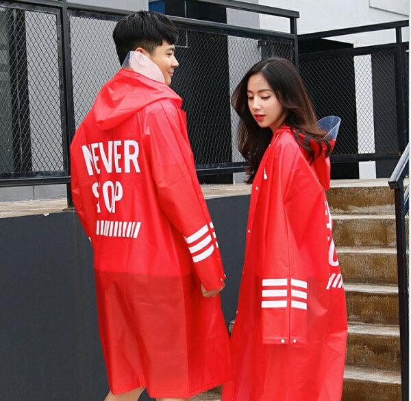 韓版潮品透明EVA雨衣環保無毒雨衣防水材質【HLRGAA03】