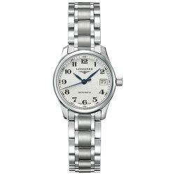 LONGINES 浪琴表 L21284786 巨擘優雅經典機械腕錶/白面25.5mm