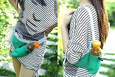BO雜貨【SV2344】韓版戶外旅遊運動休閒隨身保溫腰包 保冰袋 飲料袋 戶外運動包 霹靂包