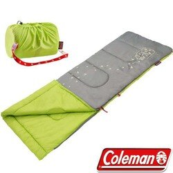 《台南悠活運動家》 COLEMAN 美國 萊姆綠-夜光型兒童睡袋 CM-22259