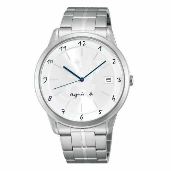 agnesbVJ52-00AMB(BP9007J1)經典蜥蜴圖文時尚腕錶白面39mm