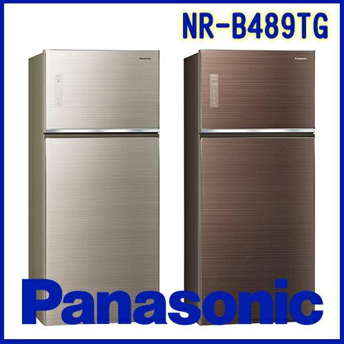 奇博網:Panasonic國際牌485LECONAVI無邊框玻璃系列NR-B489TGN翡翠金T翡翠棕