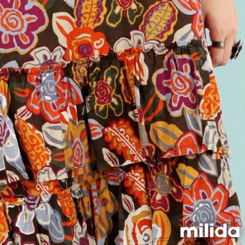 【Milida,全店七折免運】-夏季商品-無袖款-長版百摺洋裝 4
