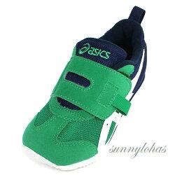 【ASICS 亞瑟士】SUKU 2機能童鞋 IDAHO MINI KT-ES運動鞋 TUM190-300 藍綠