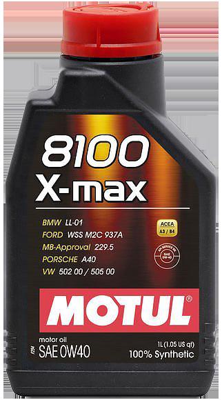 Motul  8100 X-max 0W40 合成機油