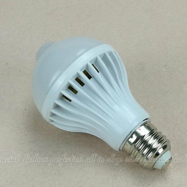LED紅外線人體感應燈9W(黃) 緊急照明 過道燈 燈具 燈飾【AM365B】  123便利屋
