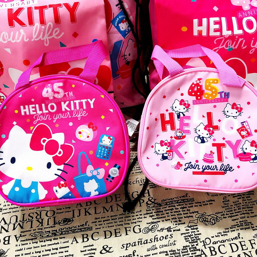 大賀屋 正版 HELLO KITTY 手提包 購物包 包包 女包 45周年 限量版 凱蒂貓 KT T00120412