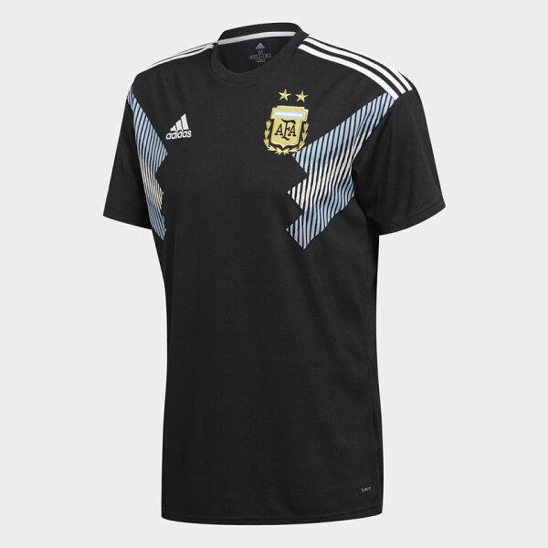 ADIDASARGENTINAAWAYREPLICA男裝短袖世足賽世界盃阿根廷黑【運動世界】CD8565