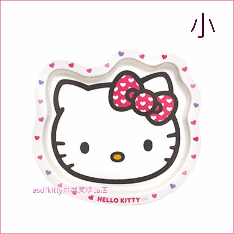 asdfkitty可愛家☆KITTY愛心蝴蝶結頭型托盤/餐盤-小-可裝餐點.水果,甜點-韓國製