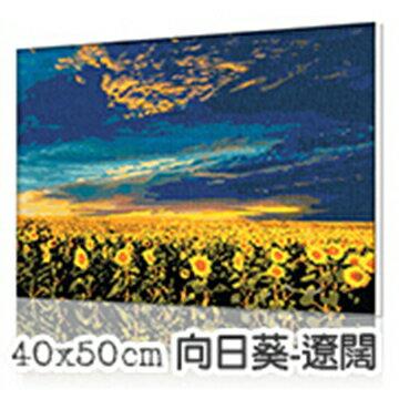 WallFree窩自在★DIY手繪數字油畫 名畫系列-向日葵-遼闊