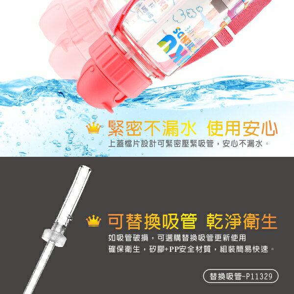 Puku 藍色企鵝 動物列車Tritan水壺-500ml (珊瑚紅)【悅兒園婦幼生活館】 8