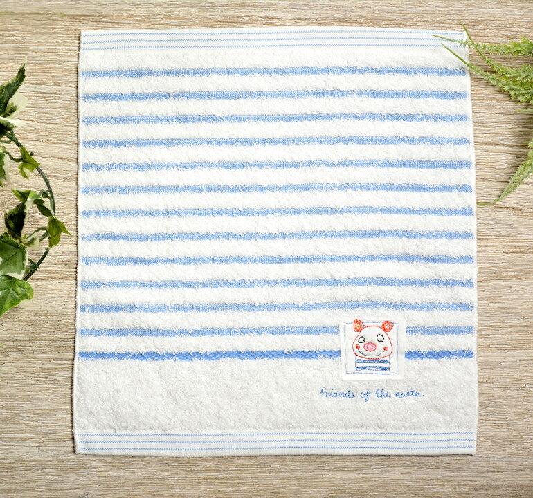日本今治 - KONTEX - Mag小毛巾(小豬)《日本設計製造》《全館免運費》,生產階段亦無使用任何藥劑、無漂白、無染色,採用最純淨的有機棉製作最天然安心的產品。