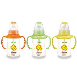 Simba小獅王辛巴 PES自動把手葫蘆小奶瓶150ml(單支) S6825※三色隨機出貨※