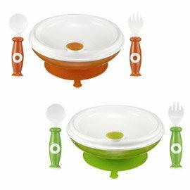 Simba小獅王辛巴 保溫吸盤餐具組(綠色/橘色) S9603