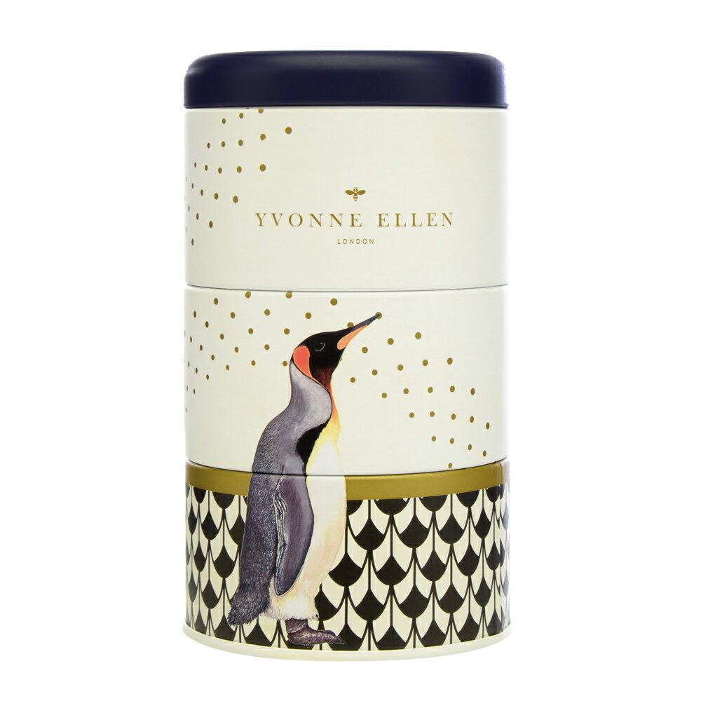 英國Wax Lyrical  動物饗宴YVONNE ELLEN三層蠟燭禮盒-極地微風 (企鵝)
