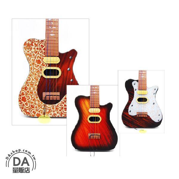 《DA量販店》兒童 玩具 仿真 吉他 樂器 四弦 圖案隨機(V50-1297)