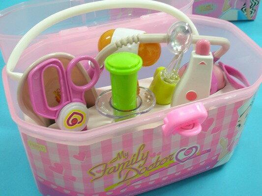 護士醫生遊戲玩具組 手提醫生組 筒注射器玩具(燈光.手提箱)/一組入{促350}醫生組~睿9901H