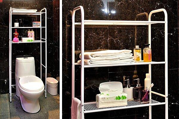 Loxin【BG0588】ikloo~台灣製站立式馬桶置物架 洗衣機置物架 浴室收納架 浴室置物架