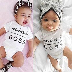 短袖包屁衣 Mini Boss 寶貝老闆 嬰兒包屁衣 寶寶童裝 SK2170