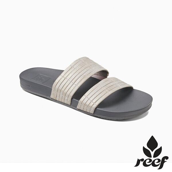 【新品9折↘】REEF能量彈力系列兩片式織帶舒適好穿防滑耐磨女款包覆式拖鞋.銀RF0A39U8SIL