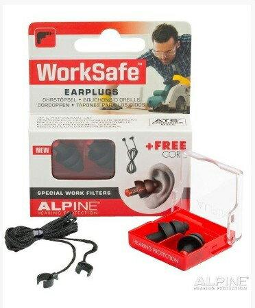 荷蘭原裝進口 Alpine Worksafe頂級工作聽力保護耳塞 黑色款