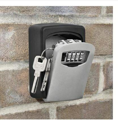 戶外防盜密碼鎖鑰匙收納盒壁掛式門口入戶門備用家用房卡保管箱 【熱賣新品】 領券下定更優惠