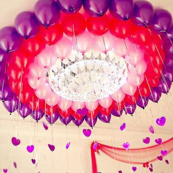 珠光氣球心形吊墜婚房布置裝飾氣球愛心亮片生日派對布置結婚用品 領券下定更優惠