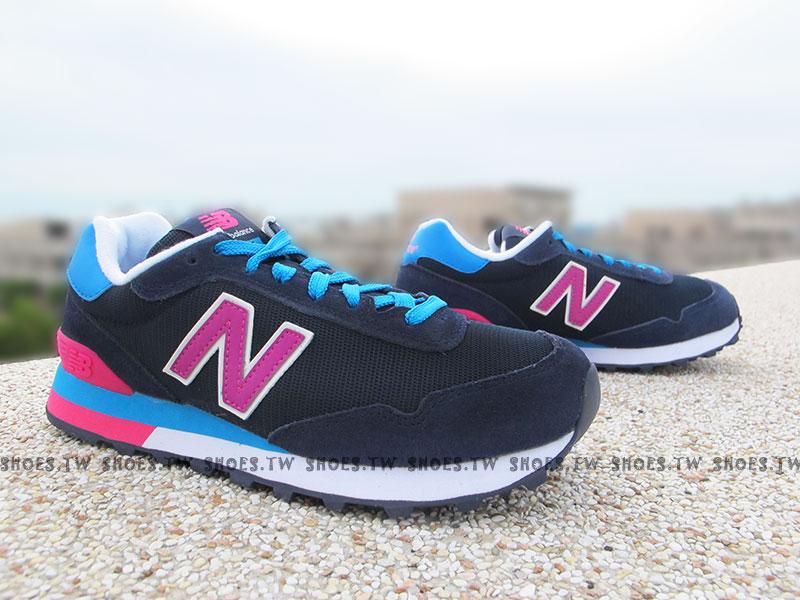 《超值6折》Shoestw【WL515GRC】NEW BALANCE NB 515 復古慢跑鞋 繽紛夏季 撞色 深藍桃 女生