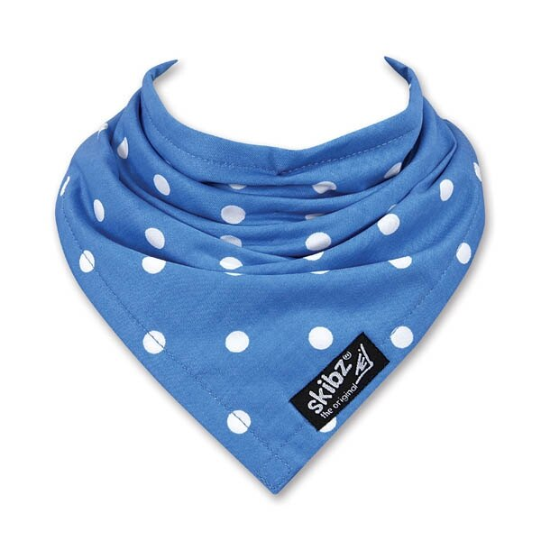 英國 skibz 藍色點點時尚經典領巾