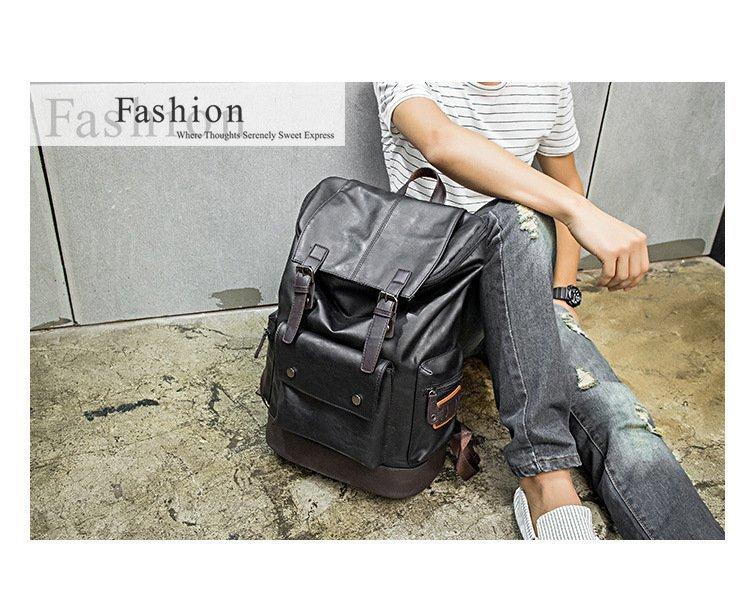 FINDSENSE品牌 韓國 新款  FIN韓國出品 包款 時尚 男士 休閒包 書包 電腦 雙肩背包 潮流