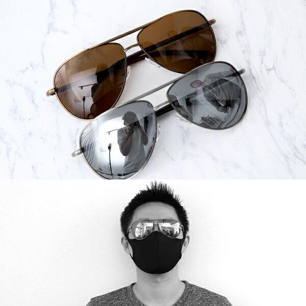 偏光太陽眼鏡側邊I字腳架時髦墨鏡柒彩年代【NY406】