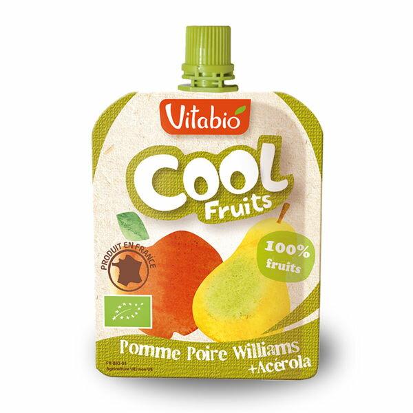 法國倍優Vitabio有機優鮮果-蘋果、洋梨12M+有機水果泥隨身包即食包