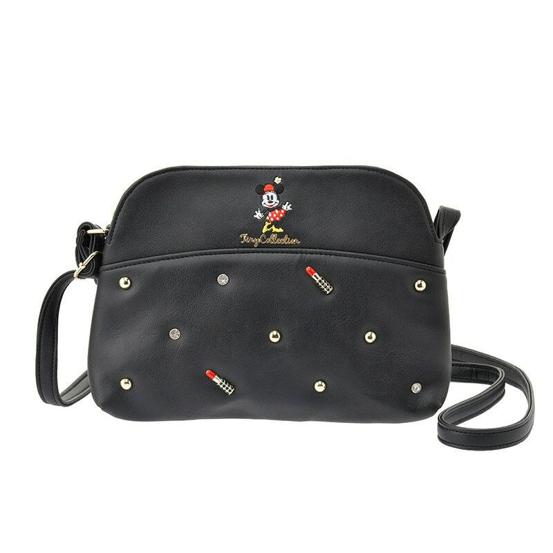 【真愛日本】16121600013專賣店限定皮革側背包-Tiny米妮   迪士尼 米老鼠米奇 米妮  專賣店限定  日本帶回