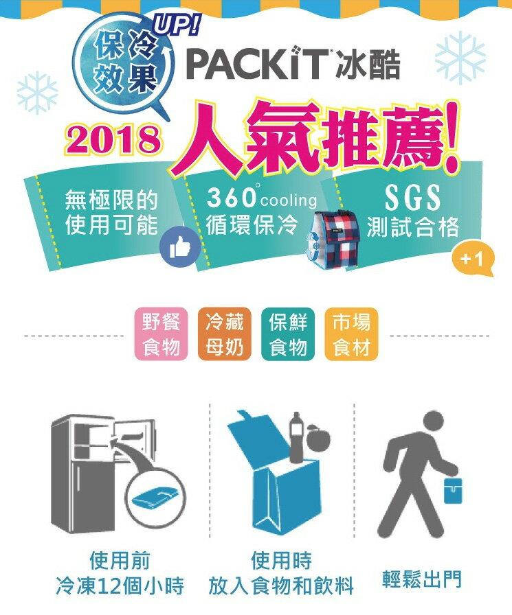 美國 PACKiT 冰酷 品酒單瓶冷藏肩背袋 1L (幾何天堂) 保冷袋 保冰袋 母乳袋 行動式摺疊冰箱 1
