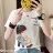 F-DNA★清新小女孩側影印圖圓領短袖上衣T恤(3色-M-2XL)【ET12698】 1