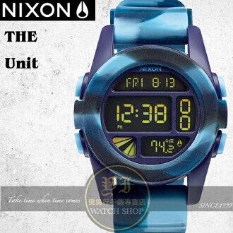 NIXON 實體店The UNIT雙時區潮流迷彩運動錶A197-1726公司貨/極限運動