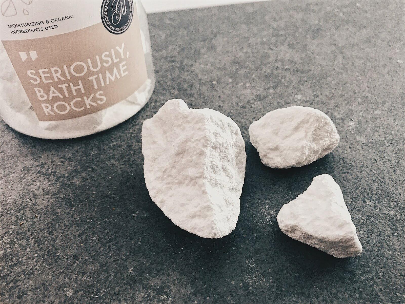Bath Bomb Rocks (320g, Jasmine) by Grace & Stella Co. 2