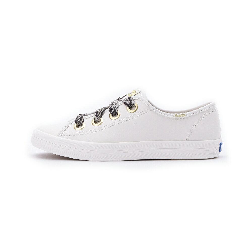 【限時8折】KEDS KICKSTART 奢華蛇紋綁帶皮革休閒鞋 奶油白 9203W123123 女鞋