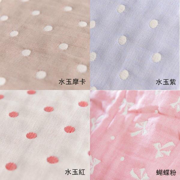ollobaby瓦吉司 - HiBOU喜福 - 六層紗四方萬用巾 (水玉紫) 5