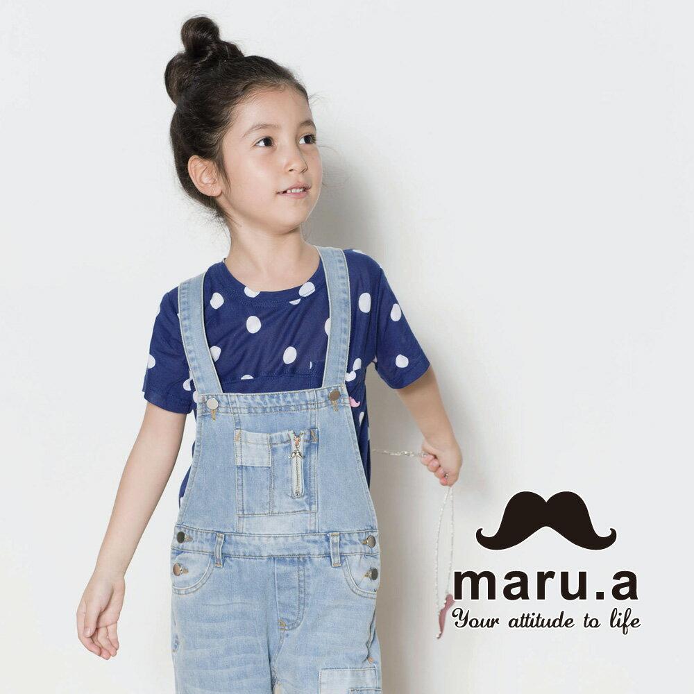 【mini maru.a】童裝親子裝滿版圓點小口袋T-shirt(2色)7351218 4