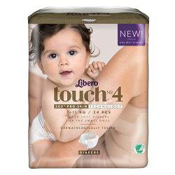 麗貝樂 Libero touch 嬰兒紙尿褲4號-24片x8包(尿布)箱購★衛立兒生活館★